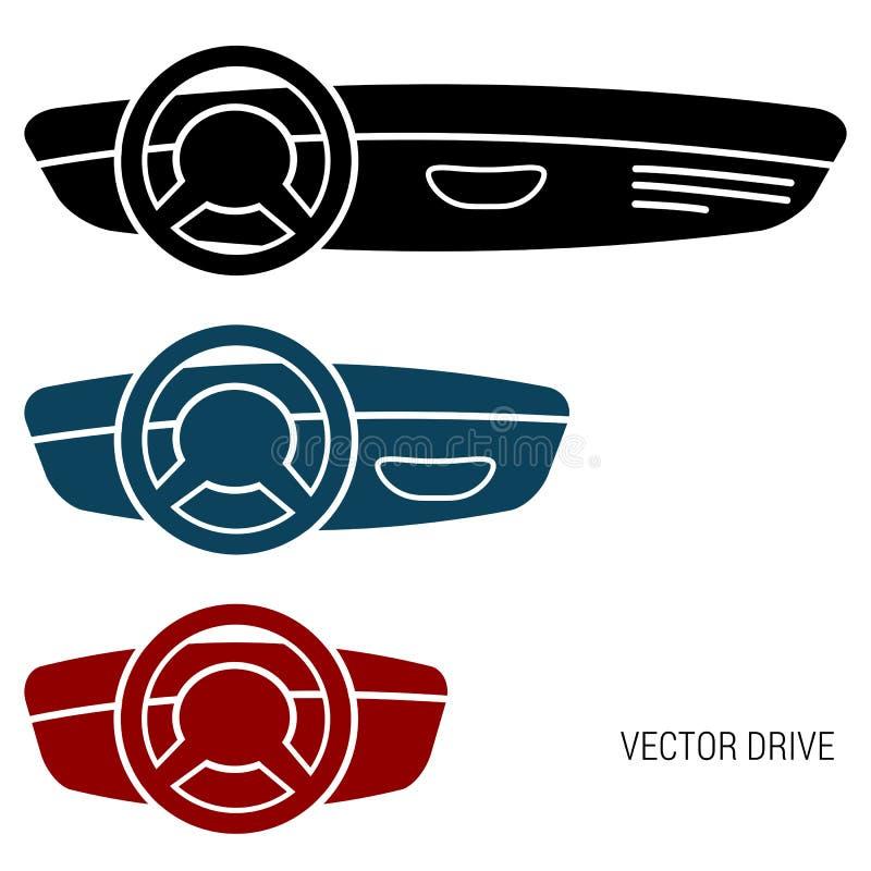 Tre bräden för symbolsbilstreck vektor illustrationer