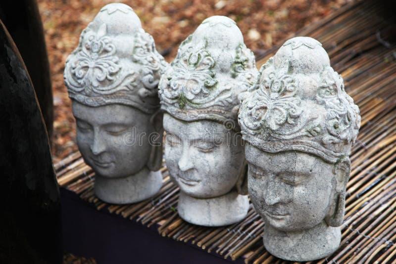 Tre Buddhahuvud royaltyfri foto