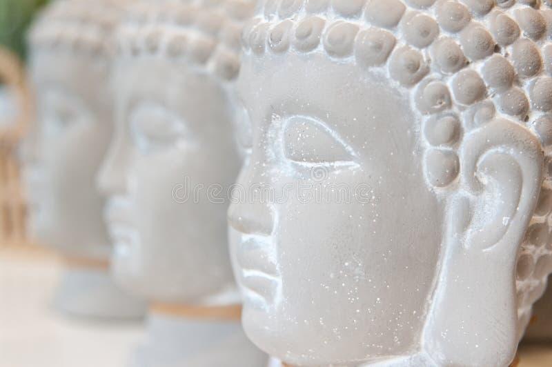 Tre Buddhahuvud fotografering för bildbyråer