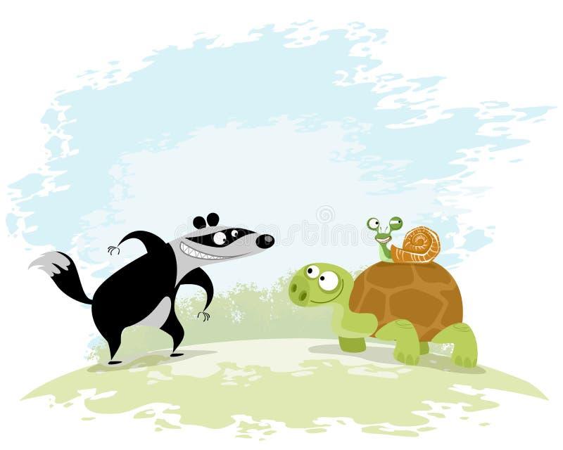 Tre buoni amici illustrazione vettoriale