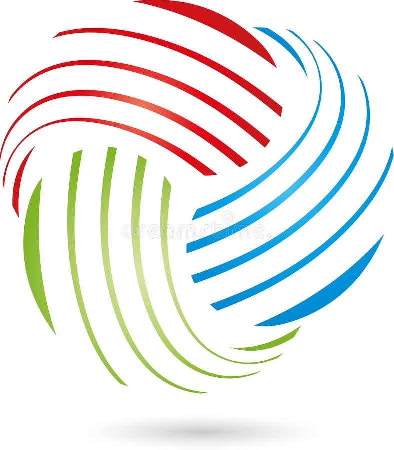 Tre cali nel colore, in pittore e nel logo di industriale royalty illustrazione gratis