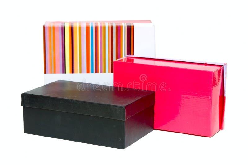Tre caselle fotografia stock