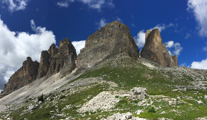 Tre Cime royalty free stock photography