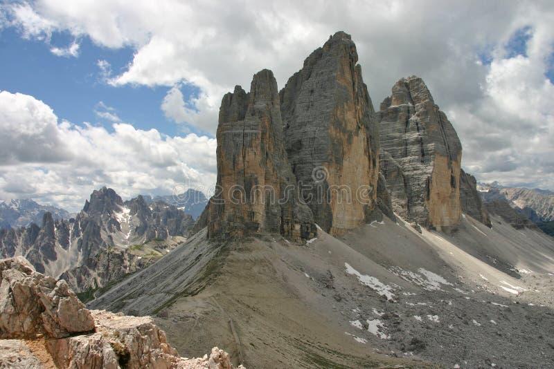 Tre CIME Di Lavaredo από Monte Paterno στοκ εικόνα με δικαίωμα ελεύθερης χρήσης