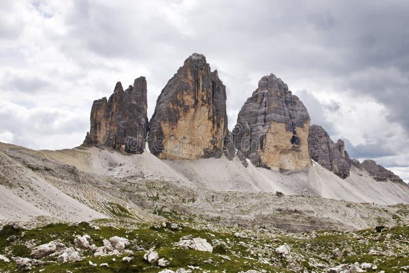 tre Cime di Lavaredo -意大利 免版税库存照片