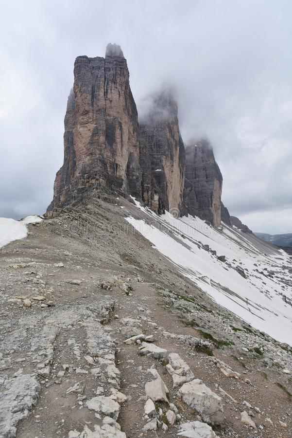 Tre Cime, Italien lizenzfreies stockfoto