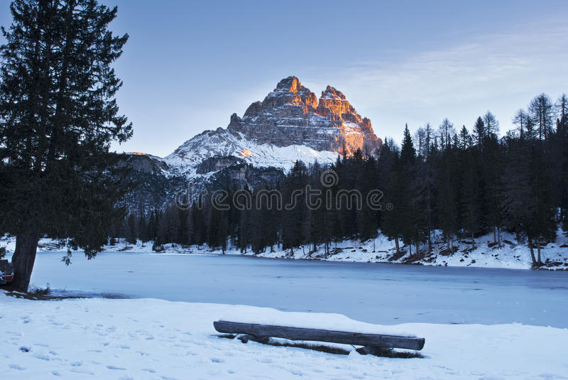 Tre Cime mountains royalty free stock photography