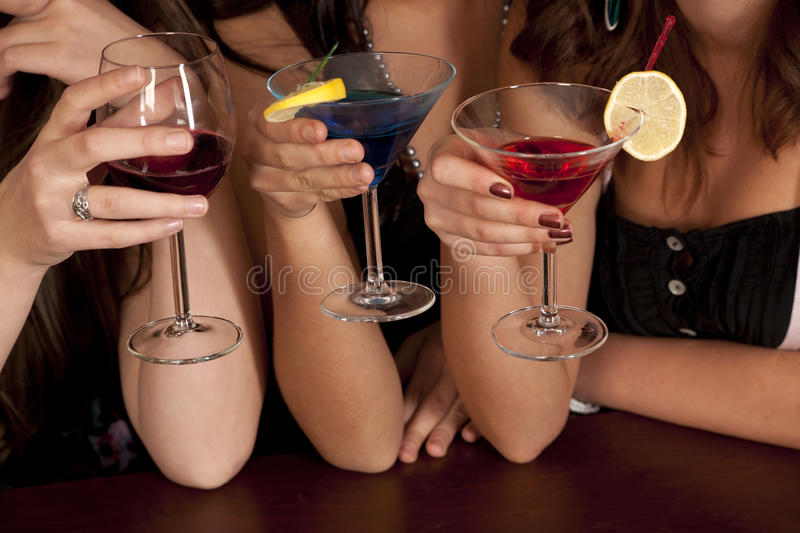 Tre cocktail di colore fotografia stock