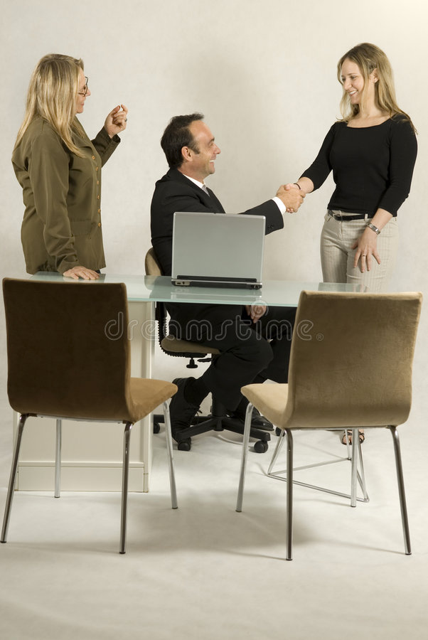 Tre colleghi immagini stock libere da diritti