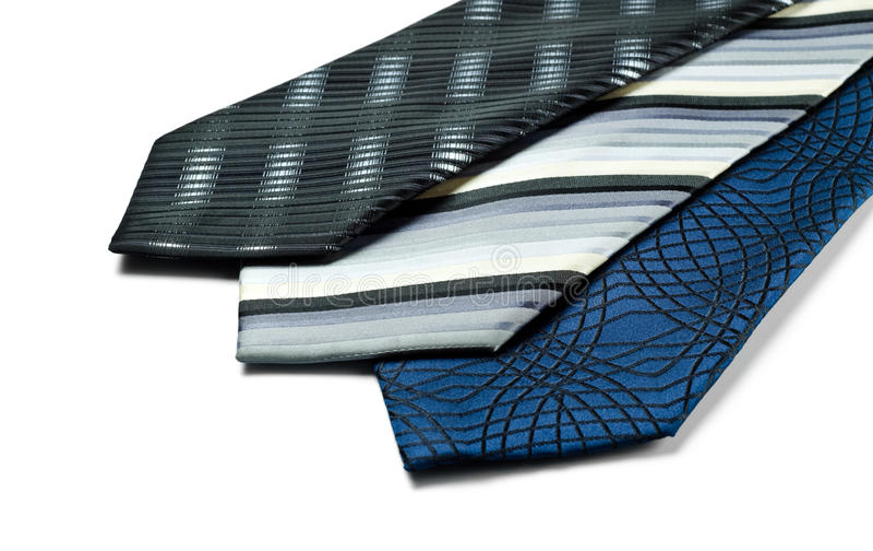 Tre cravatte fotografie stock