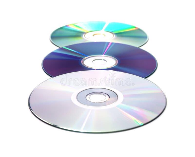 Download Tre dischi immagine stock. Immagine di riflessione, digitale - 3138599