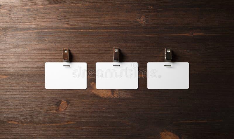 Tre distintivi in bianco fotografia stock