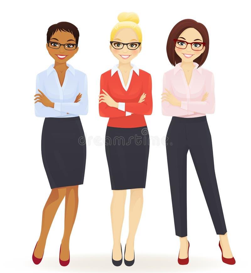 Tre donne eleganti di affari royalty illustrazione gratis