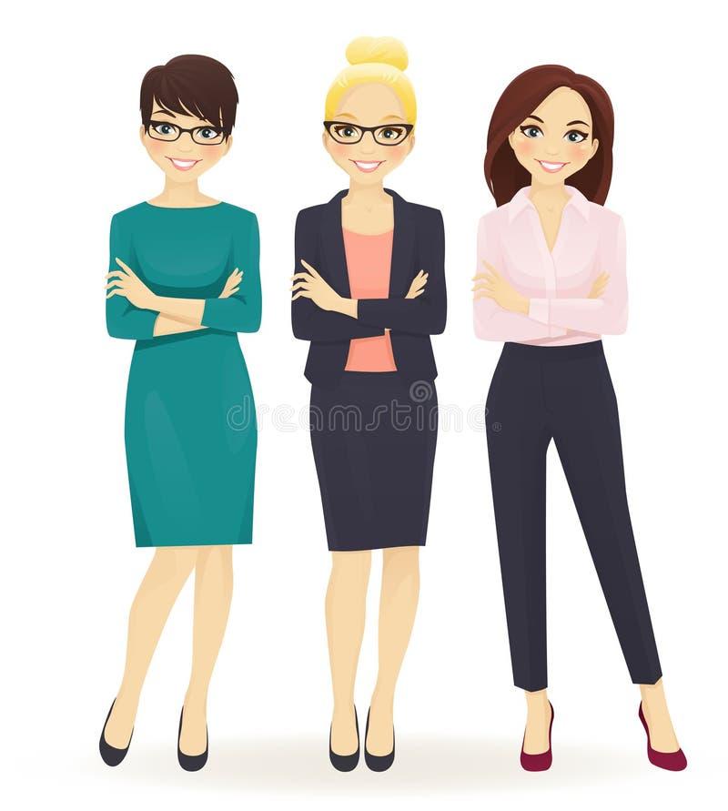 Tre donne eleganti di affari illustrazione vettoriale