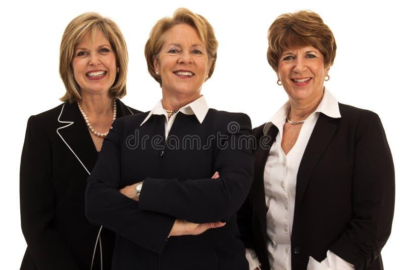 Tre donne sicure di affari immagini stock libere da diritti