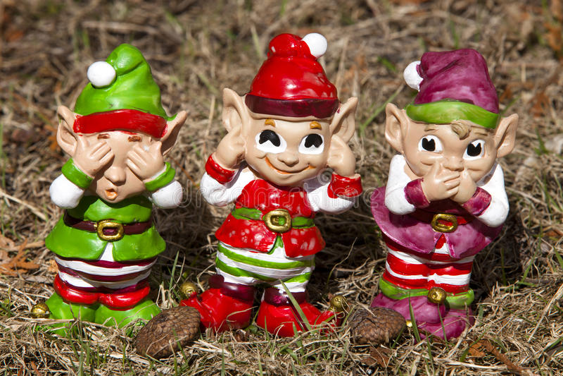 Tre elfi immagine stock libera da diritti