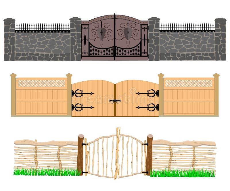 Tre epoker av portevolution royaltyfri illustrationer