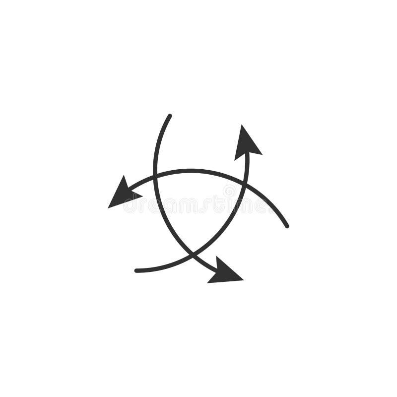 Tre frecce che indicano nelle direzioni differenti Scelga il concetto di modo Illustrazione di vettore illustrazione vettoriale