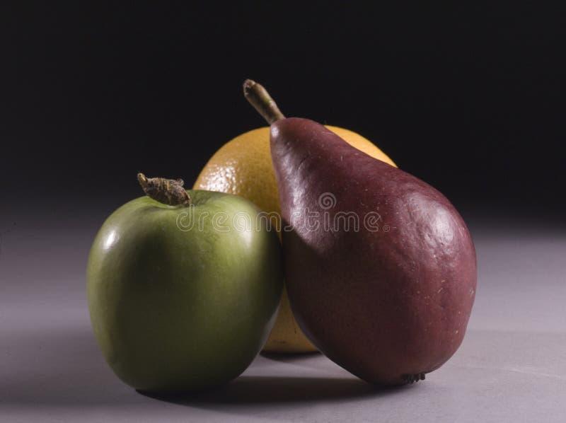 Tre frutta immagini stock libere da diritti