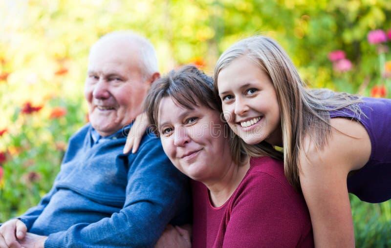 Tre generazioni fotografie stock