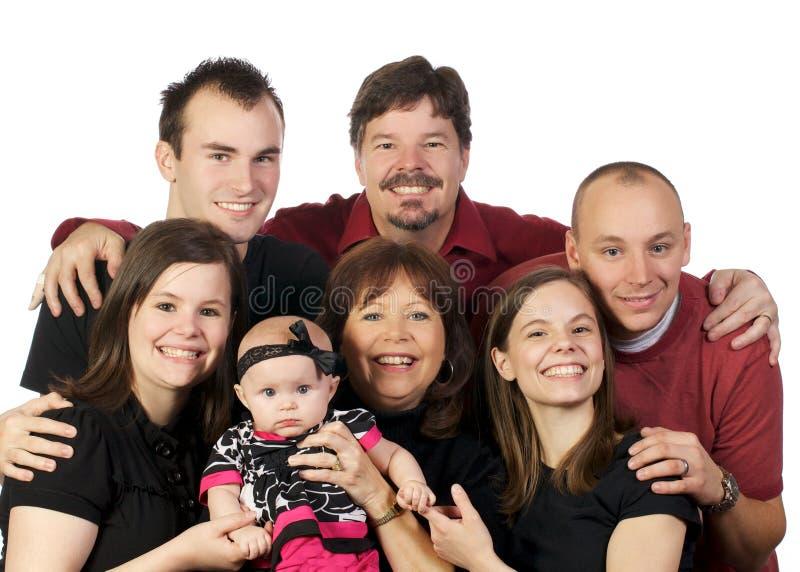 Tre generazioni di FamilyThree della generazione che propongono As fotografia stock libera da diritti