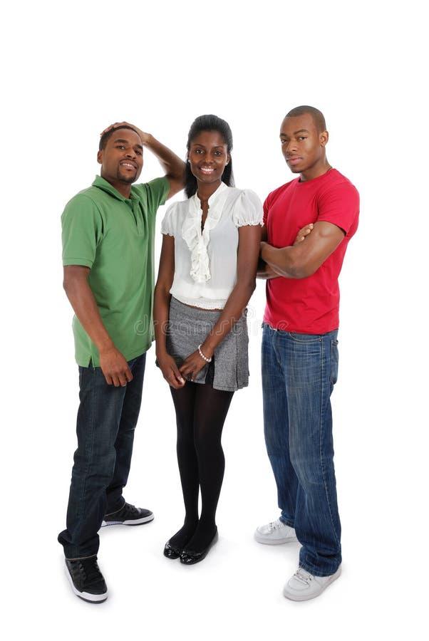 Tre giovani fotografia stock libera da diritti