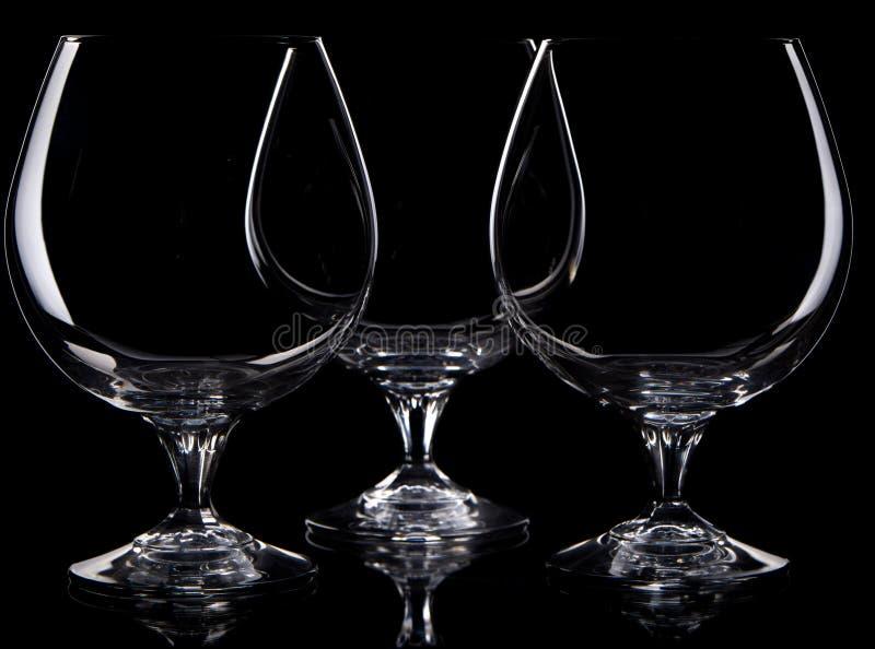 Tre glases differenti fotografia stock