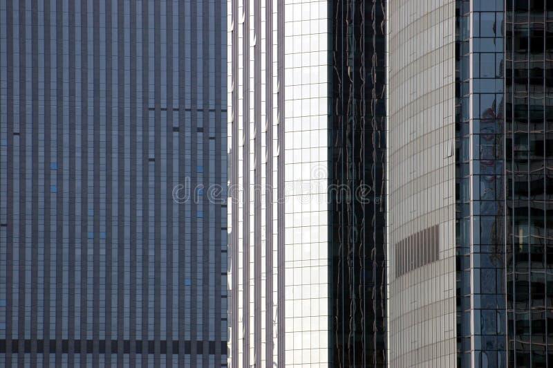 Tre grattacielo - primo piano fotografie stock libere da diritti