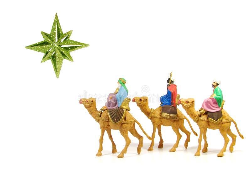 Tre kloka manar (julkrubban) arkivfoto