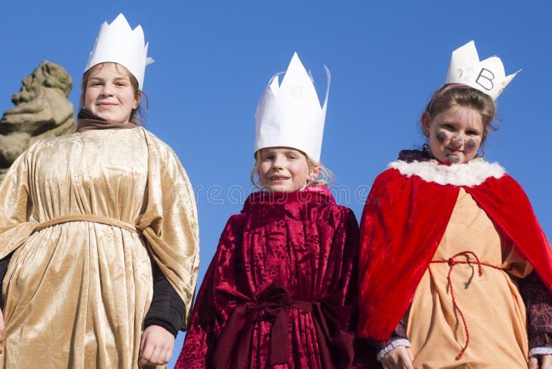 Tre konungar - Caspar, Melthior, Balthazar royaltyfria bilder