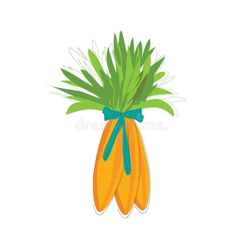 Tre läckra morötter vektor illustrationer