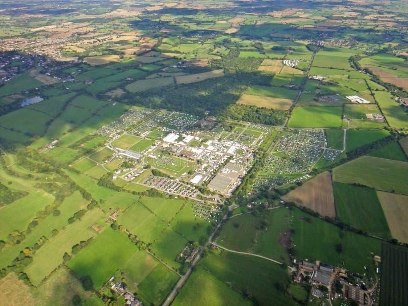 Tre län Showground, Worcestershire royaltyfri fotografi