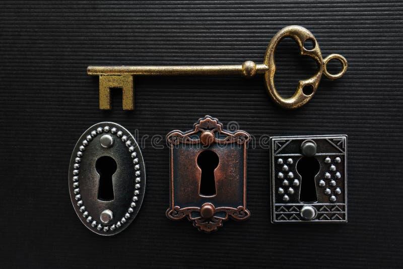 Tre låser royaltyfri bild