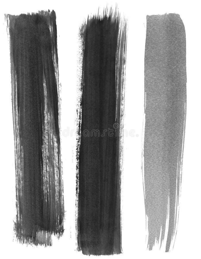 Tre målarfärgslaglängder arkivbild