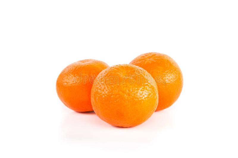Tre mandarini immagine stock libera da diritti