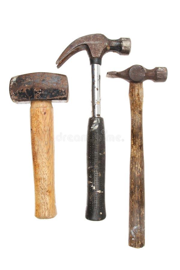 Tre martelli fotografia stock libera da diritti