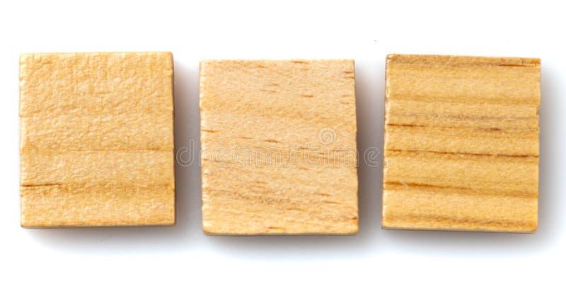 Tre mattonelle in bianco del gioco da tavolo fotografie stock libere da diritti