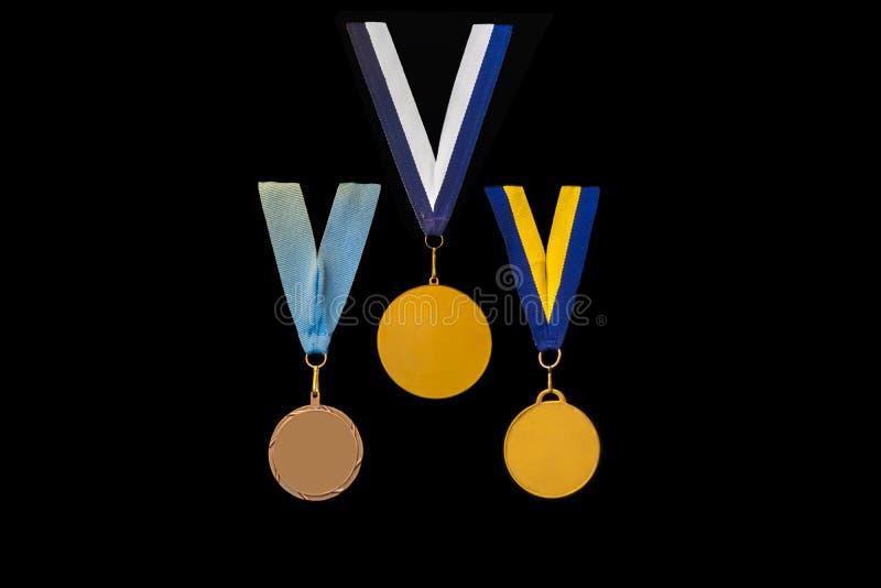 Tre medaglie immagini stock libere da diritti