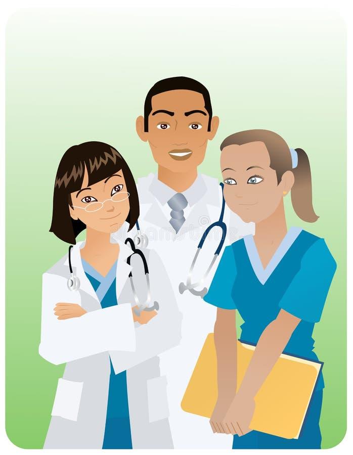 Tre medici immagini stock