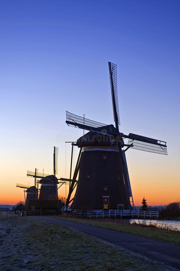 Tre mulini a vento fotografie stock libere da diritti