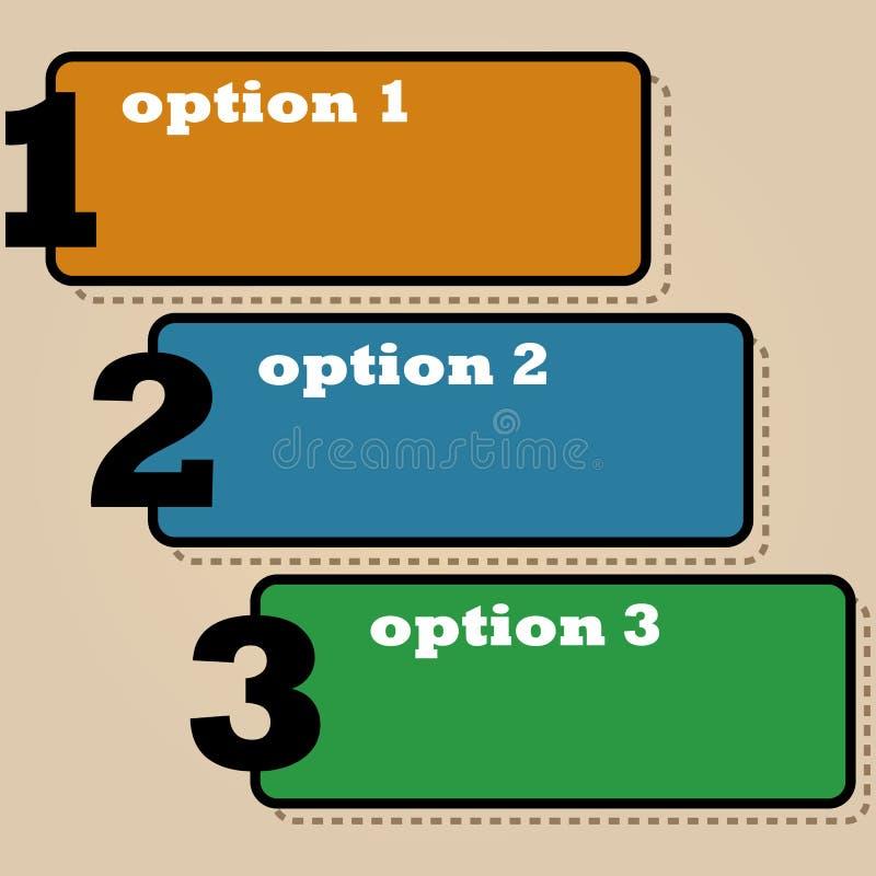 Tre opzioni royalty illustrazione gratis