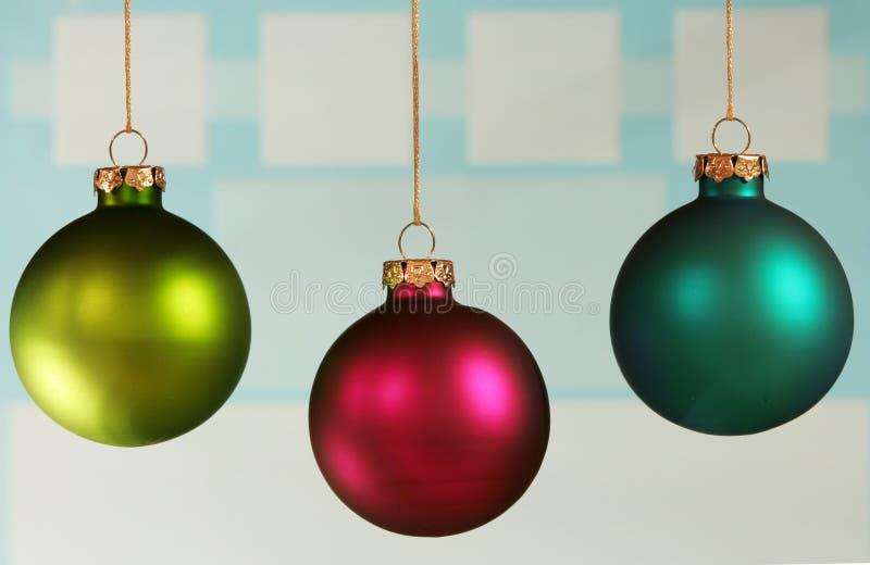 Tre ornamenti variopinti fotografia stock