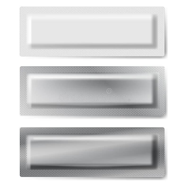 Tre packar. vektor illustrationer
