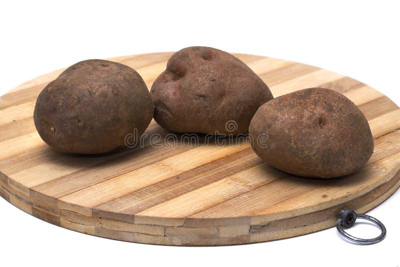 Tre patate fotografie stock libere da diritti