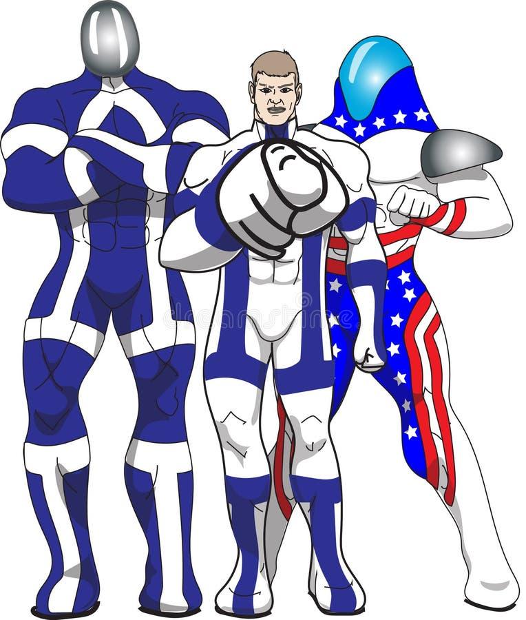 Tre patriotiska hjältar arkivfoton