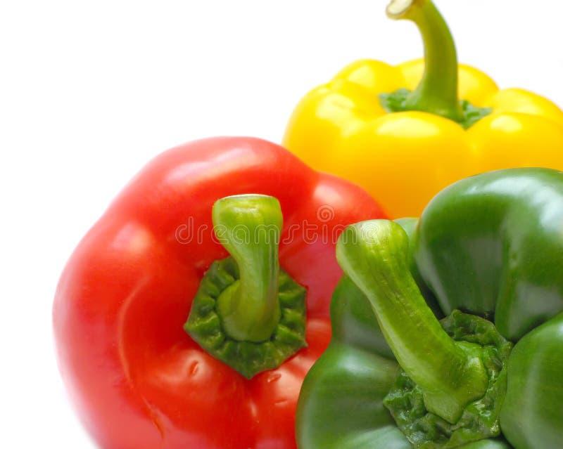 Tre peperoni fotografie stock libere da diritti
