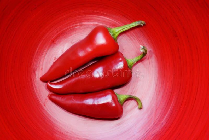 Tre peperoni di Jalepeno immagine stock