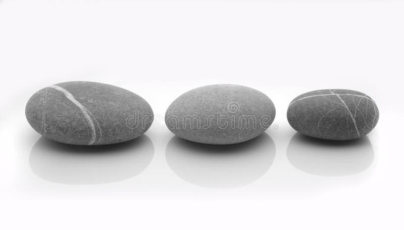 Tre pietre immagine stock