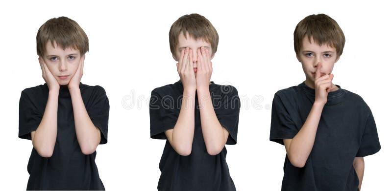 Tre ragazzi saggi immagini stock libere da diritti