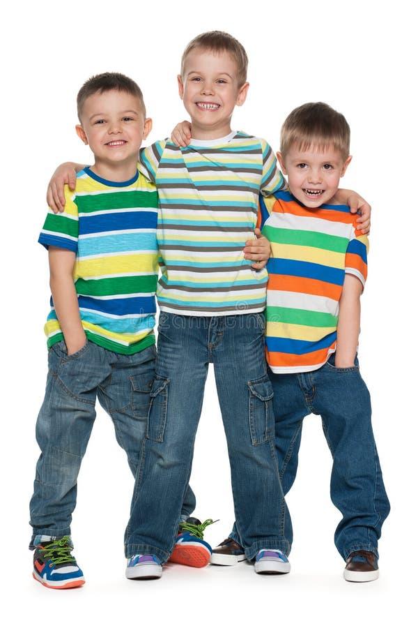 Tre ragazzini di modo immagini stock libere da diritti